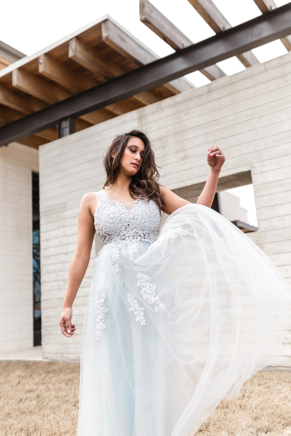 Dakota & Co. | Austin Photographer - Woman in gown editorial style photo