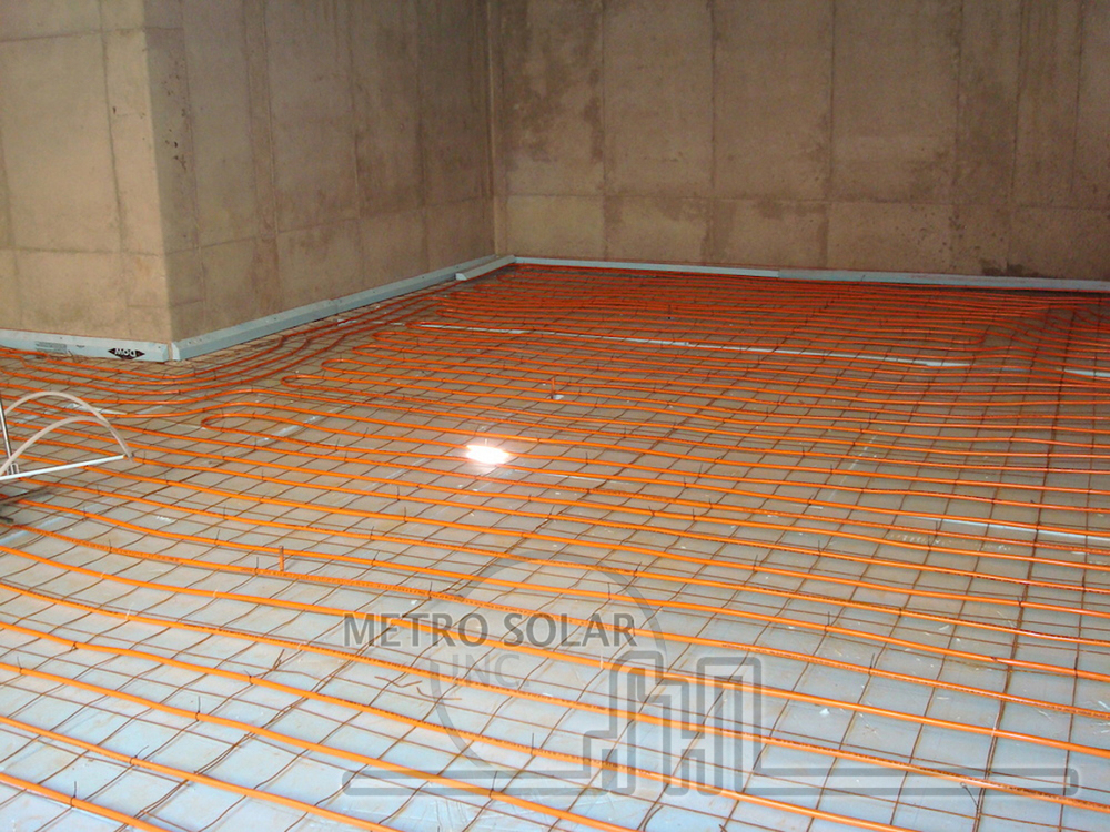 Solar Radiant Thermal Heating