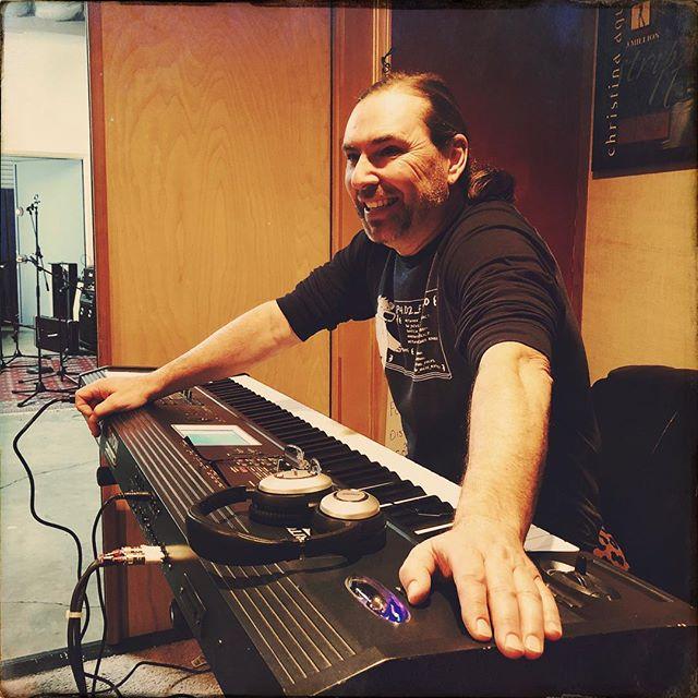 Bryan in the studio. #thegrooveroom #korg #stolengoodbye #mynewson #saintashburyhearts