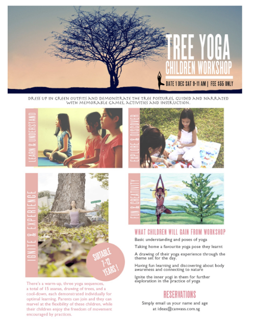 Tree Yoga Childrens' Workshop at Canvass Yoga