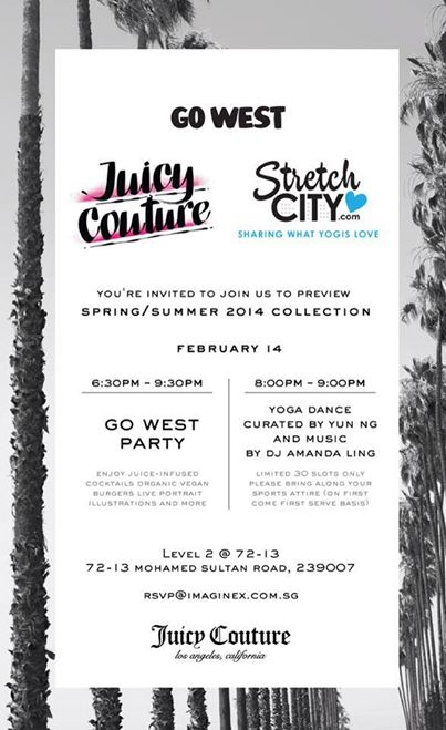 GO WEST JUICY COUTURE X STRETCH CITY PARTY