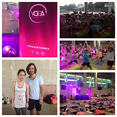 YOGA in the mix with the body coach