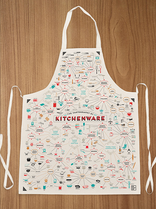 19.	The Cartography of Kitchenware Apron, Pop Chart Lab