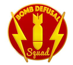 Here is our Bomb Defusal Squad insignia!