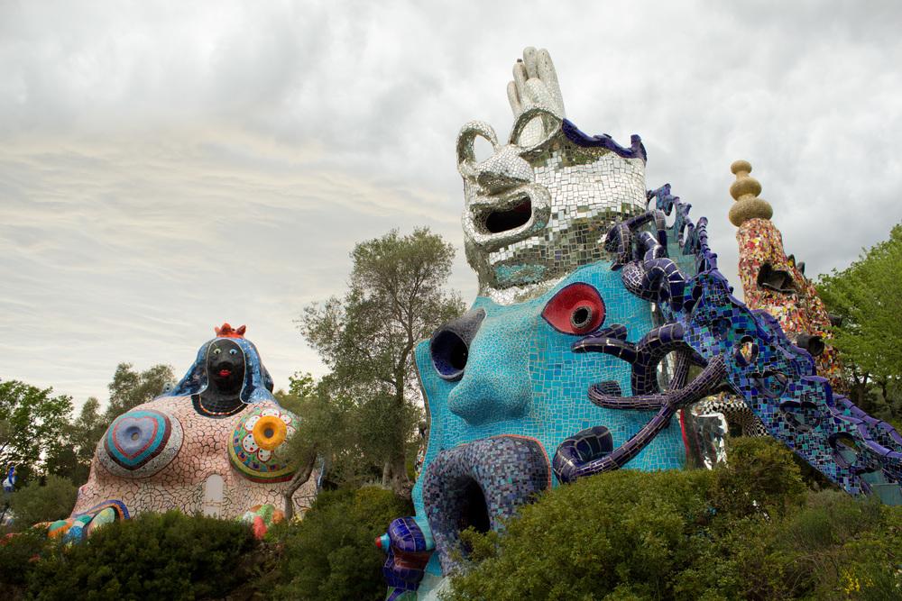 Explore the fantastical sculptures in Niki de Saint Phalle's larger-than-life Il Giardino dei Tarocchi.