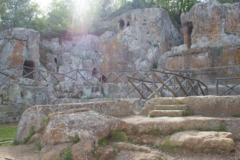 Ancient ruins await in the nearby Etruscan necropolis from the 6th century B.C.