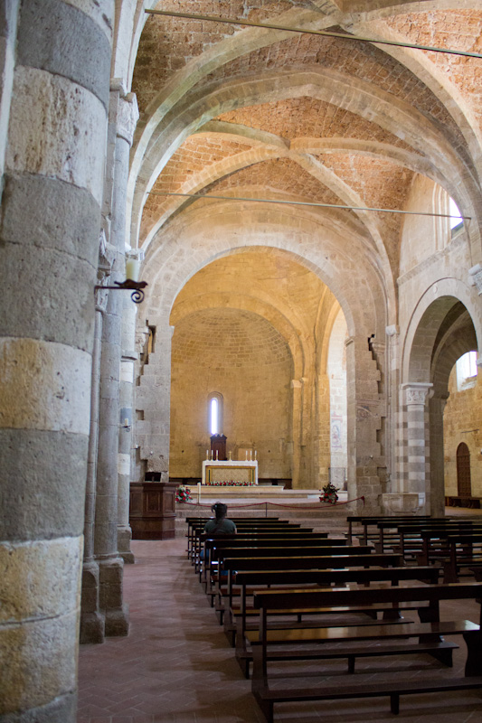 The ancient duomo of Sovana is the city's heart, featuring soaring ceilings and intricate masonry.