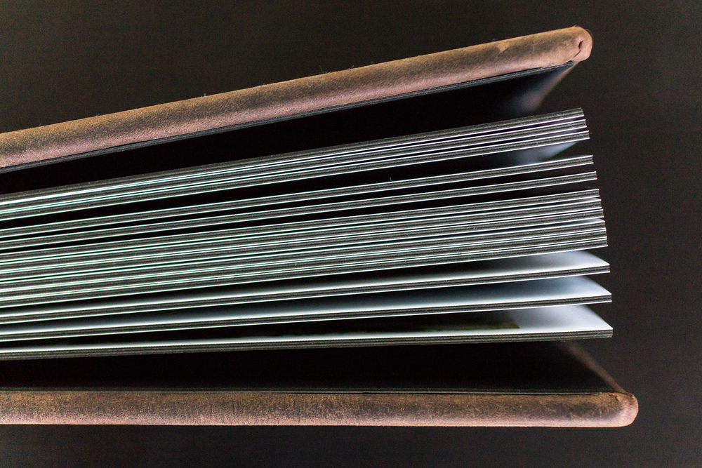 8x11 Rustic Brown Leather Album - Extra Thick Pages