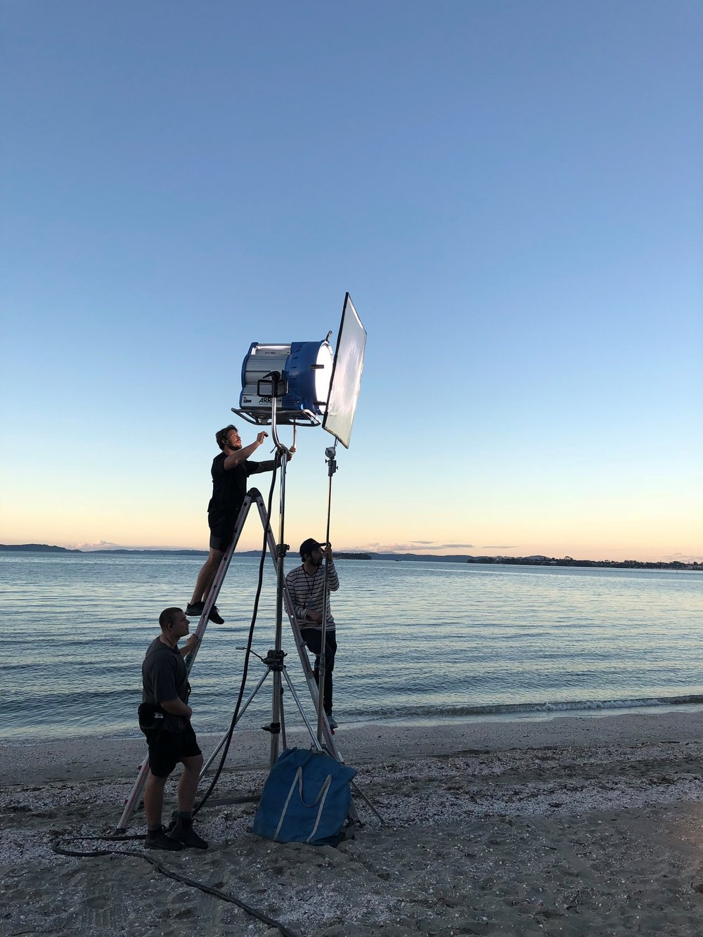 Filming at Cockle Bay