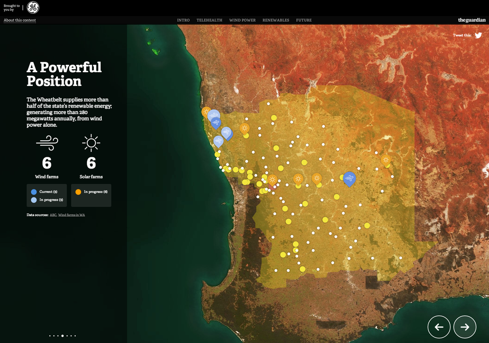Interactive story map to show how wind, sun and cutting-edge telehealth services are bringing new kinds of wealth to this West Australian farming district Link