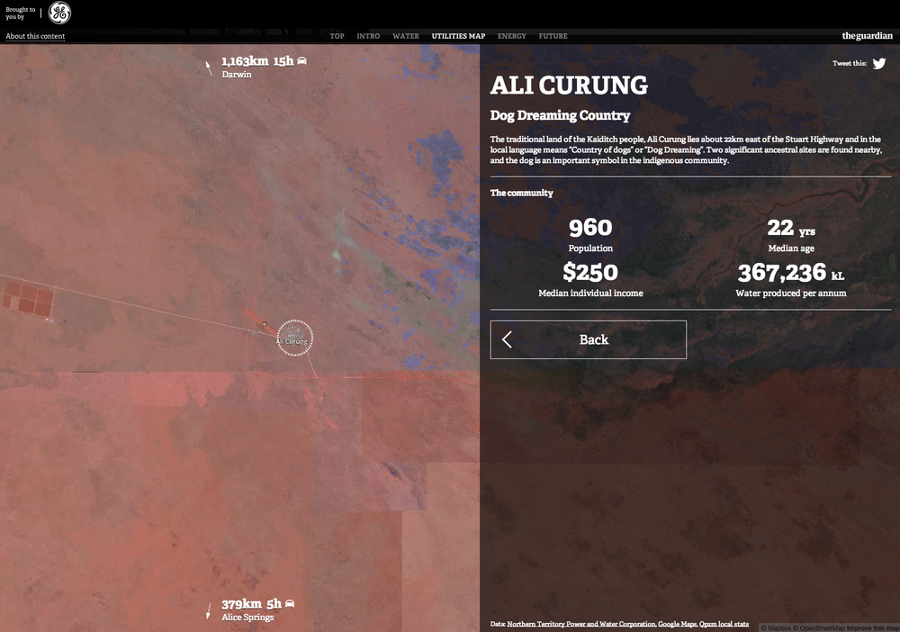 Zoomed-in view of a remote commnunity in Northern Territory. Link