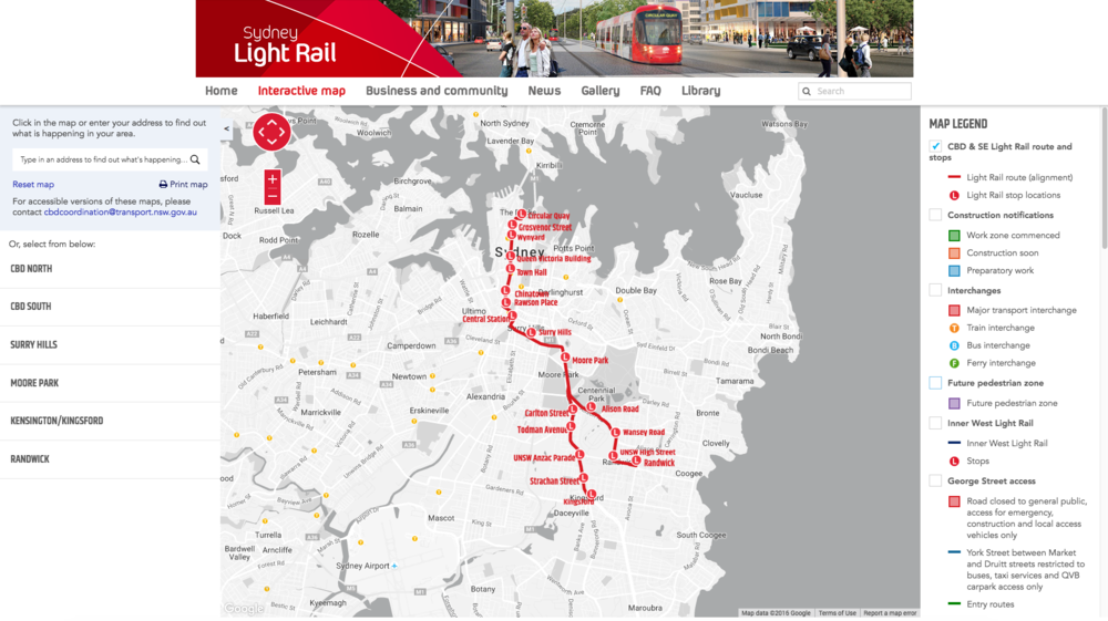 Light Rail Routes