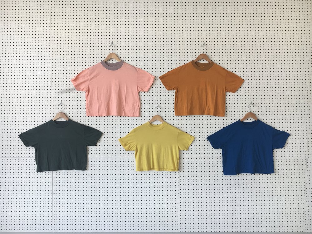 Sustainably Made Crop tees - Now Online...