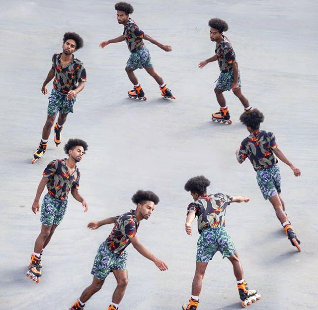 🔄 CIRCLE 🔄 w/ @johnnymonstero  #loop #art #rollerskating