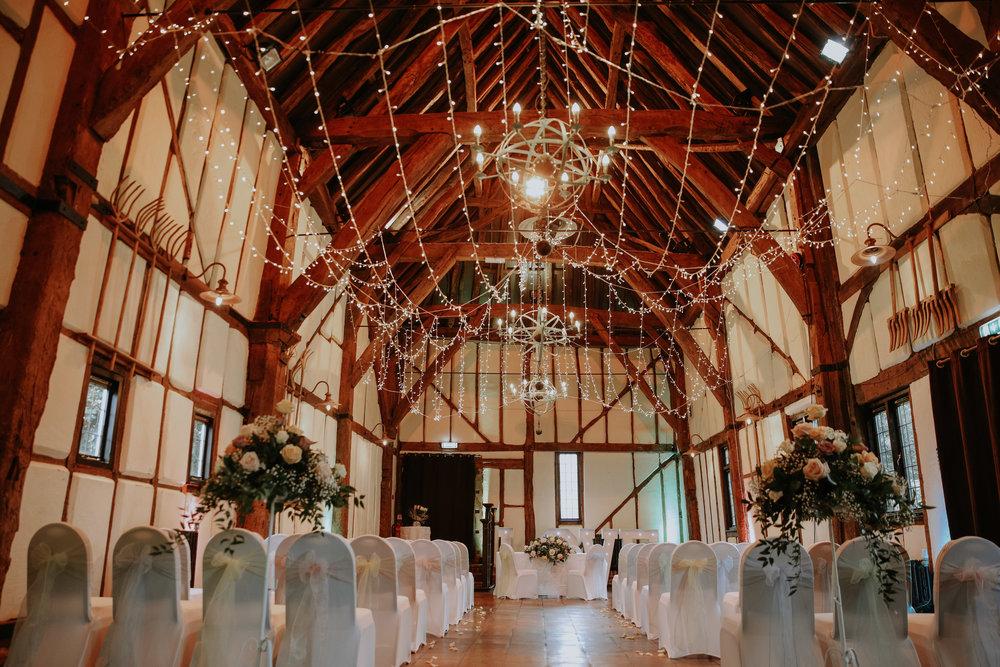 barns hotel ceremony