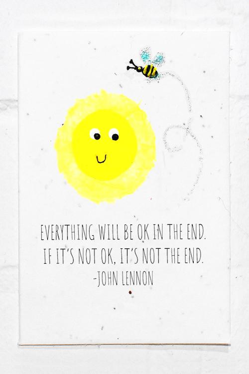 John Lennon Quote Card