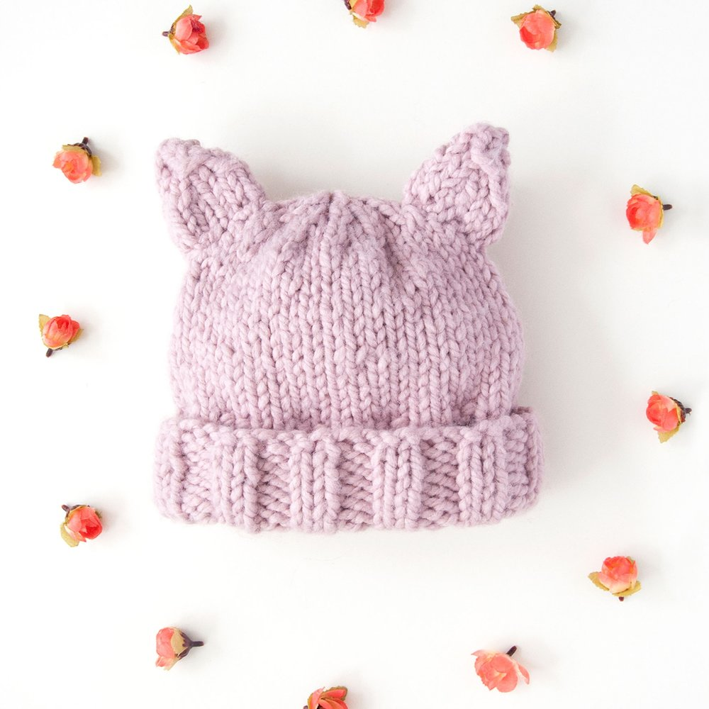 Super Chunky Kitty Cat Hat Pattern
