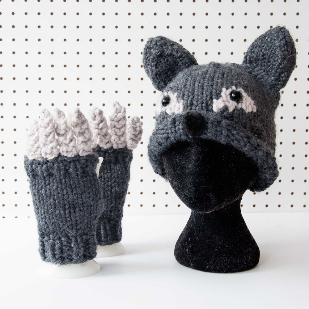 Werewolf Halloween Hat and Mittens Knitting Pattern