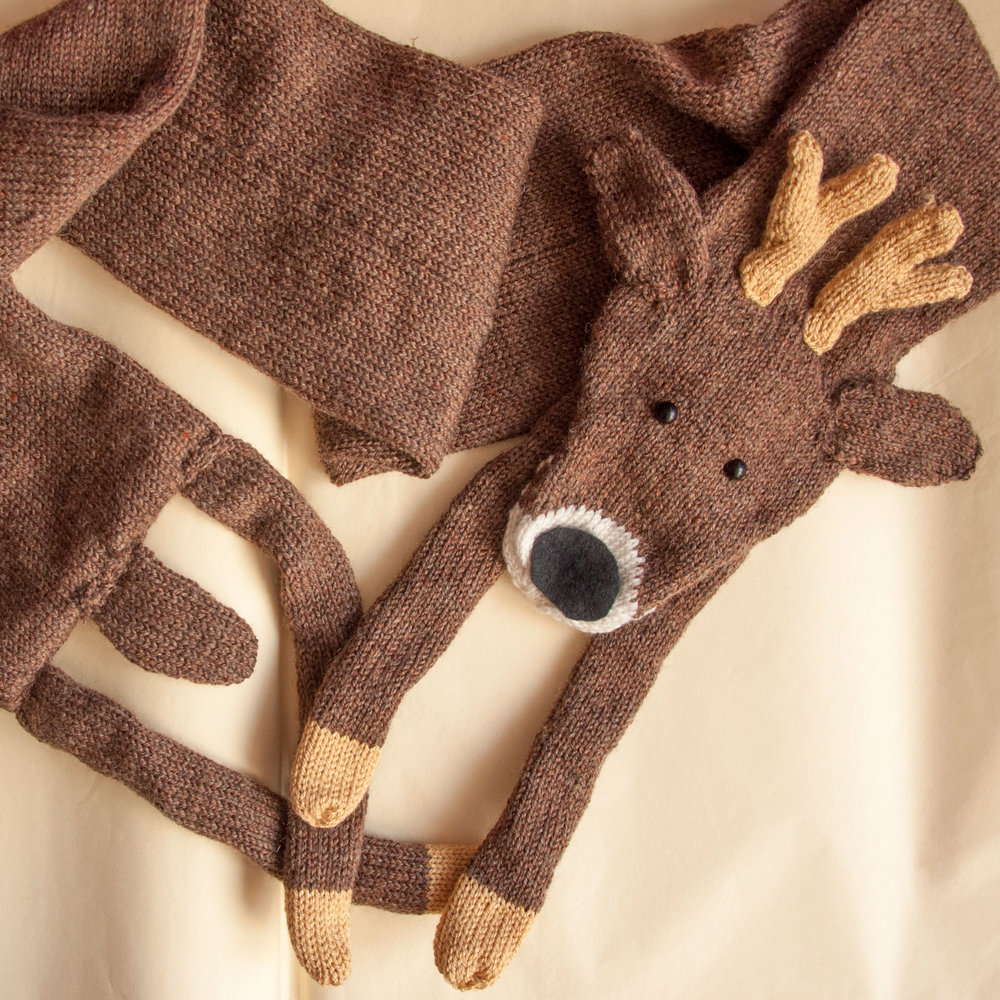 Deer Christmas Animal Scarf