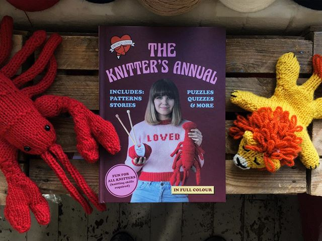 I can't believe it's actually here! A very lucky group of people will be the first see what's inside tomorrow at the launch of my new book The Knitter's Annual. And somebody's about to be even luckier as they've just won tickets to the event! Congratulations Amy and Kim, you've won the tickets. Drop me an email at hello@sincerelylouise.co.uk! If you didn't win and would still like to come just let me know ❤️ #sincerelylouise #knittingaddict #ravelry #knittingpattern #annuals #vintagestyle #girlboss #supportsmallshops #sheffieldissuper #sheffield #knitstagram #yarnlove #iloveknitting #lobster #makersmovement #shareyourknits