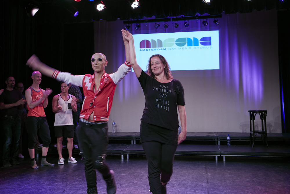 Generale repetitie - juni 2016 - stage manager Rose (op rechts :-)