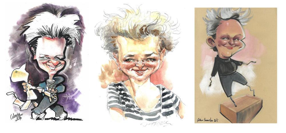 3 meiner Lieblingszeichnung  Von links: Rubén Cidoncha, Jan Op De Beeck, Gustavo Tarantino