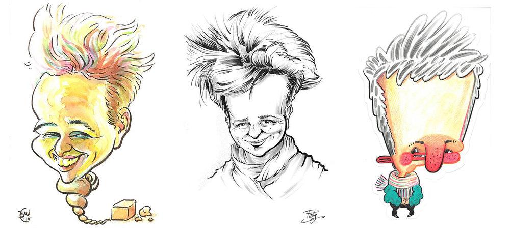 Karikaturen von  Bernd Weidenauer ,  Ray Van Stift ,  Kirby Allen Rudolph
