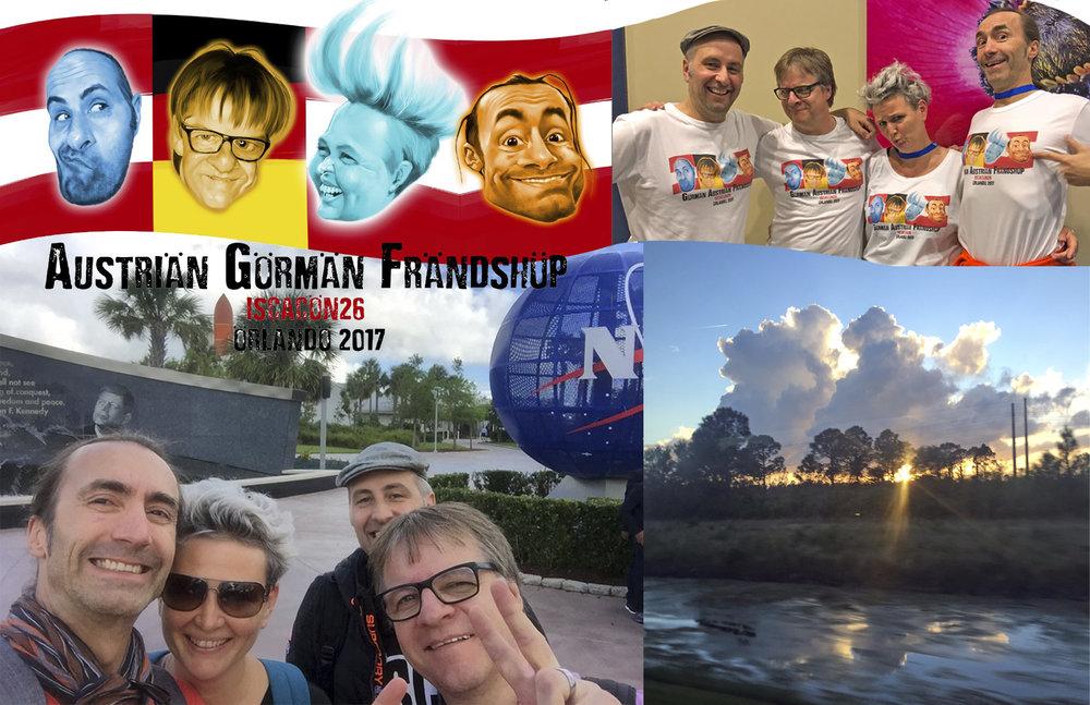 Austriän Görmän Frändshüp Team - bestehend aus Bernd Ertl, J oachim Rick , mir und Bernd  Weidenauer.  T-Shirt-Logo by  Bernd Ertl