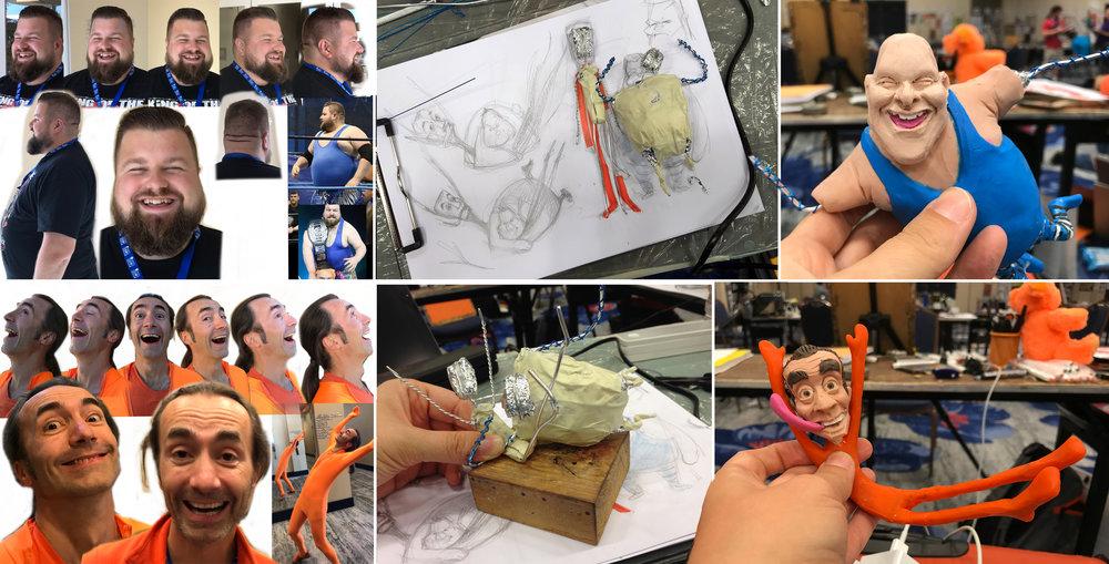 Referenzblätter der Extraklasse, Skizze und Armaturen, Figurenbau im Prozess