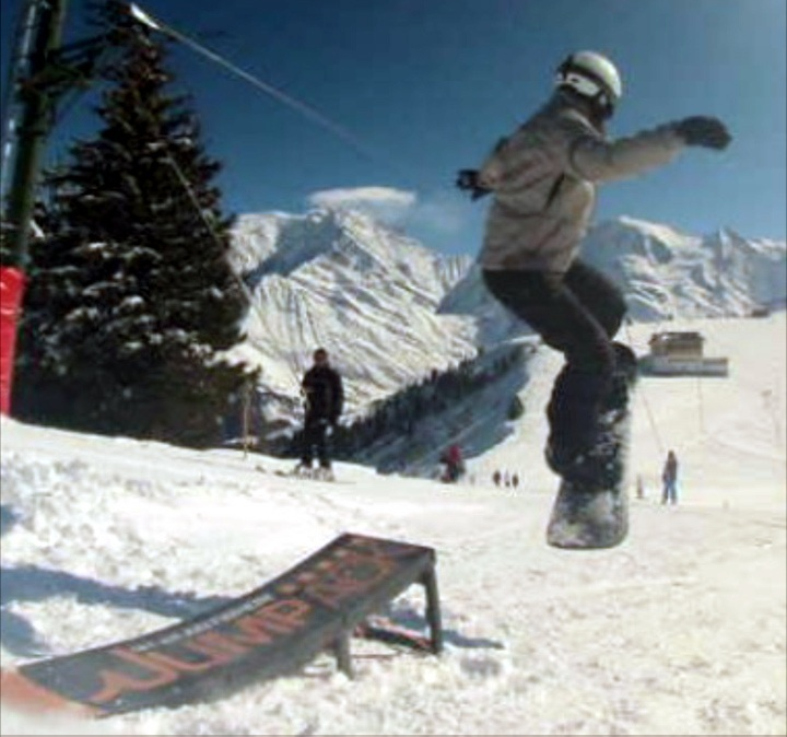 Jumpack boss gets some style in Saint Gervais, France.