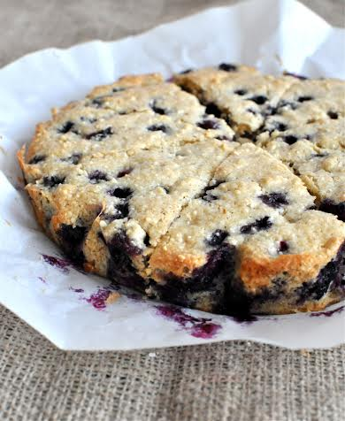These blueberry scones are delish and paleo. Easy to make.