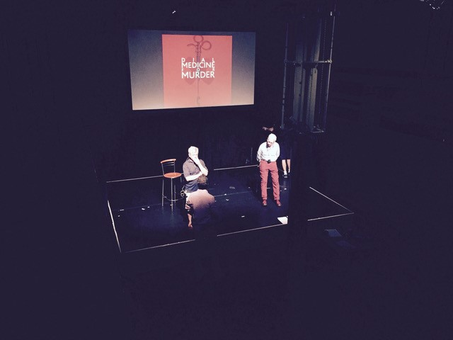 Andrew Johns & Harry Brunjes in rehearsal at the Gilded Balloon, Edinburgh
