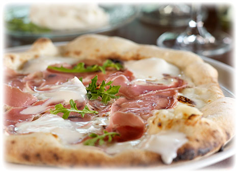 Crescenza Pizza with Prosciutto and Arugula