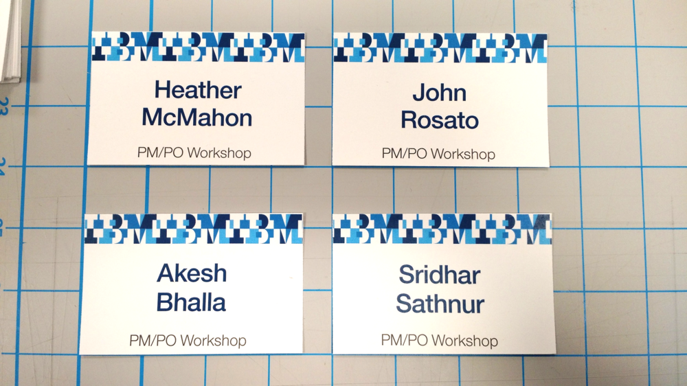 Name Badges fro PM/PO Workshop