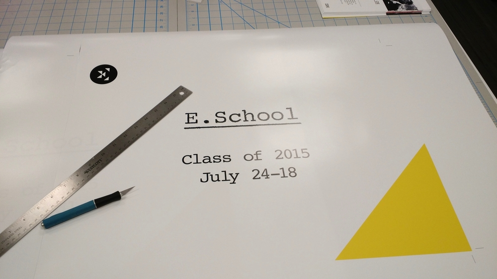 IBM E.School poster