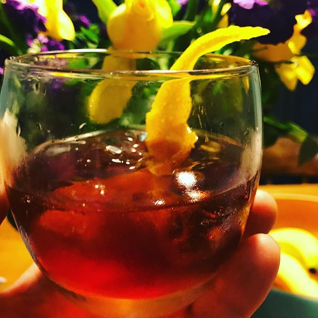 Awesome negroni made using @adnams Triple sec, Campari and our Ethiopia Kochere cold brew. Those of you lucky enough to get tickets to our coffee and cocktails evening  @adnamsburysteds on Friday 3rd can give it a try. #coldbrew #coldbrewcocktails #singleorigin #specialitycoffee
