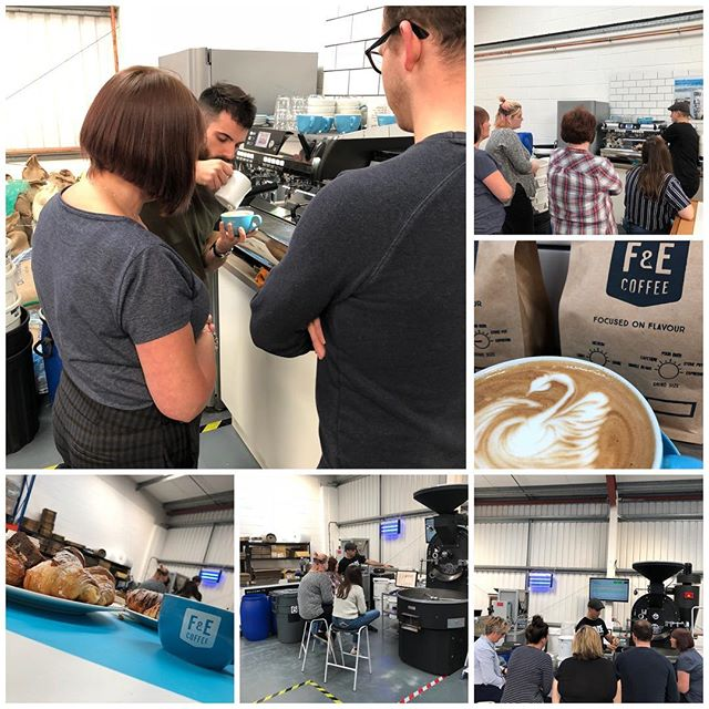Great training session this morning going through roasting, barista skills, cold brew coffee and machine maintenance with the lovely team from @thecoffeehouse5 . ☕️☕️☕️👍👍👍. Look out for their new site opening soon. #coffeeroaster #barista #specialtycoffee #coffeetraining #baristaskills