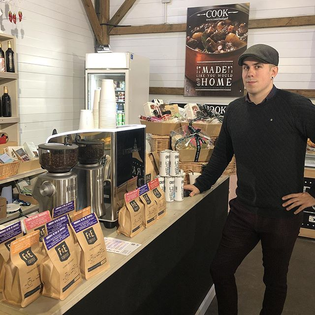 We are at @suffolkfoodhall today sampling our single origin Honduras Coffee. Come and say Hello to Our head roaster Joe! ☕️☕️☕️☕️#honduras #specialitycoffee #espresso