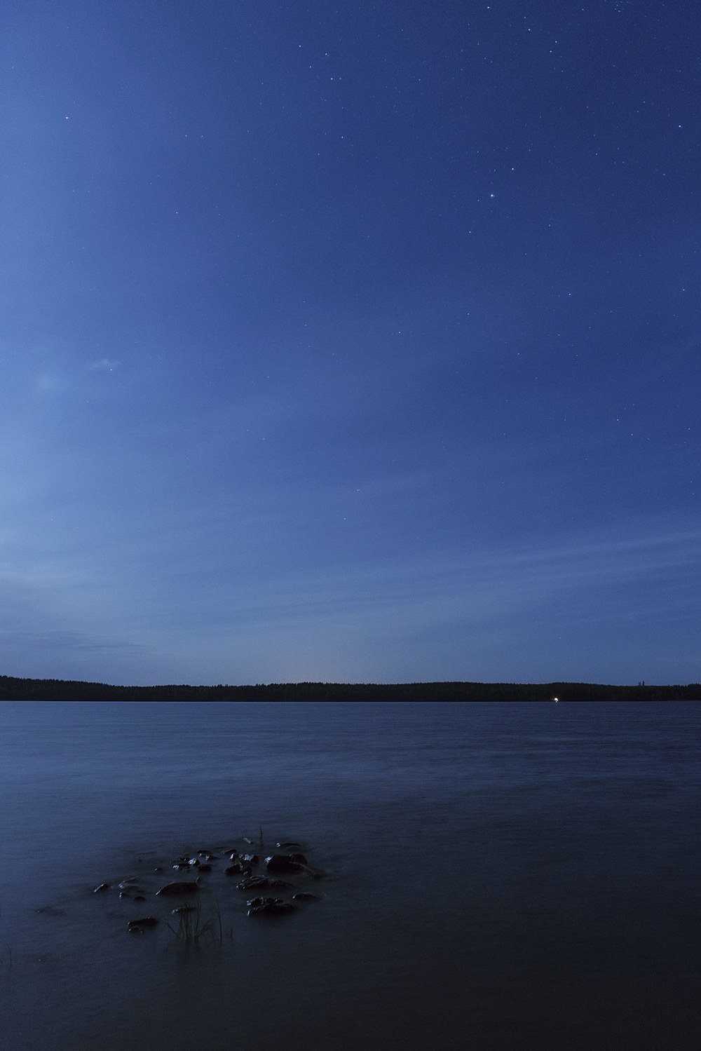 July: Lake Saimaa at midnight. Gotta love Finland!