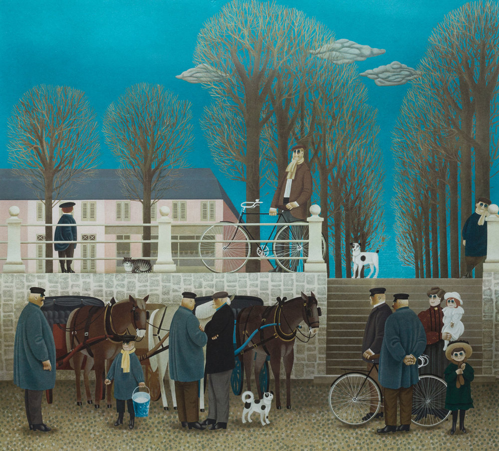 Jan Balet. Market Day in Normandy. Lithograph. 1978.