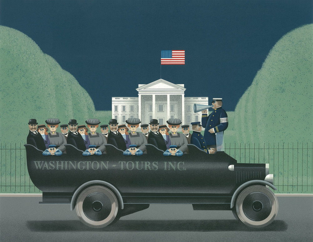 "Balet, Jan.  To the Left You See the White House , 1990, lithograph, 19 1/2"" x 25 1/2"". © Peter Balet."