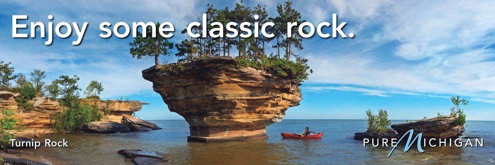 Pure Michigan Turnip Rock Billboard