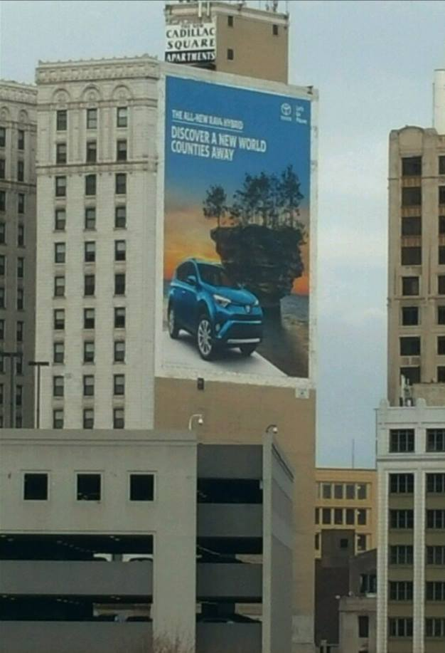 Toyota Billboard in Detroit