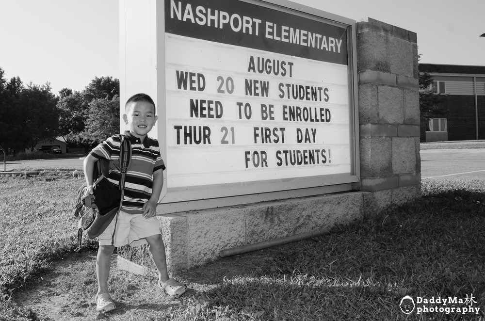 CHASE'S FIRST DAY OF KINDERGARTEN