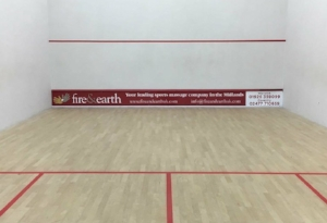 Sponsored squash court at KTSCC.