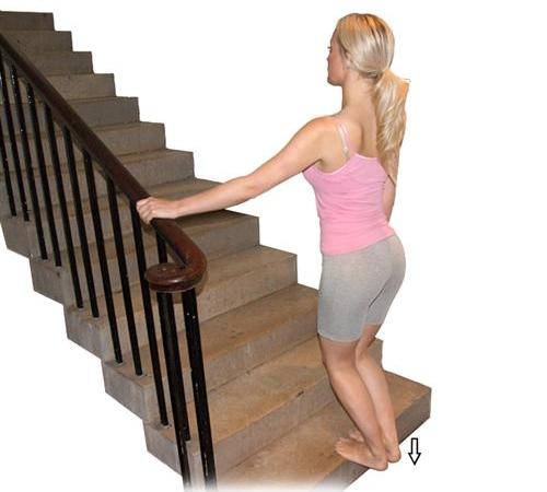 3. Heel Drop (soleus stretch)