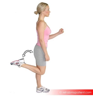 2. Alternate Heel Kicks