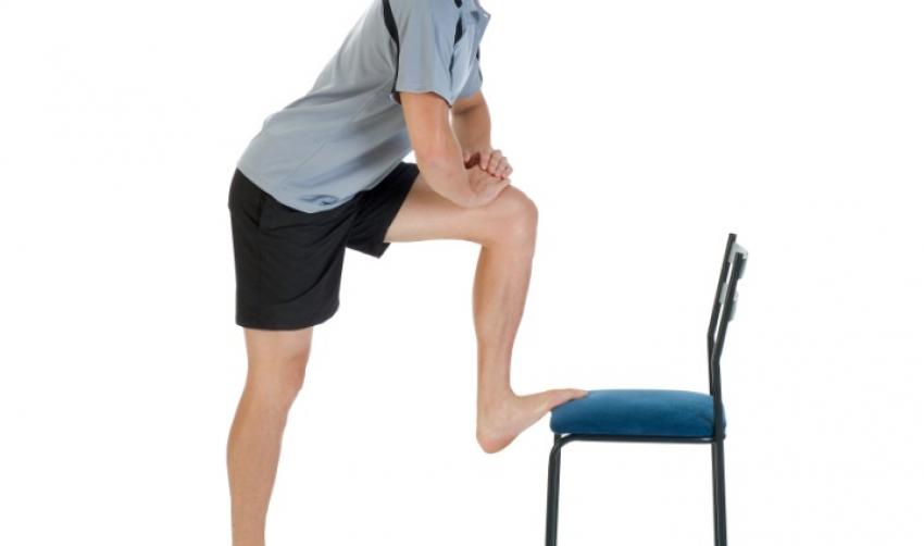 1. Bent knee hamstring stretch