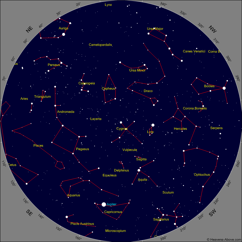 I determined the location of each star using  this amazing site