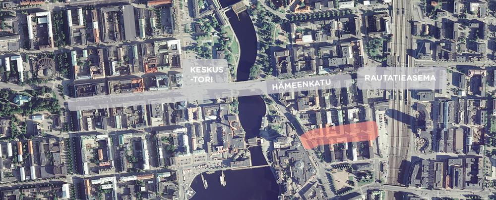 Otavalankatu sijoittuu Tampereen ydinkeskustaan. Itä-länsi-suuntainen katu käsittää kolme korttelia, joista läntisin on kävelyaluetta. Luonnostellut teokset sijoittuvat kaikki tuolle kadun kävelykatuosuudelle.